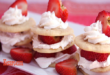 Brazil Nut Shortbreads With Strawberries